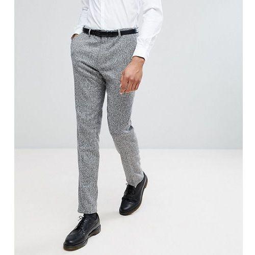 tall skinny suit trousers in herringbone tweed - brown, Heart & dagger