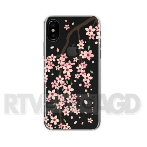Etui FLAVR iPlate Cherry Blossom do Apple iPhone X Wielokolorowy (30435), kolor wielokolorowy