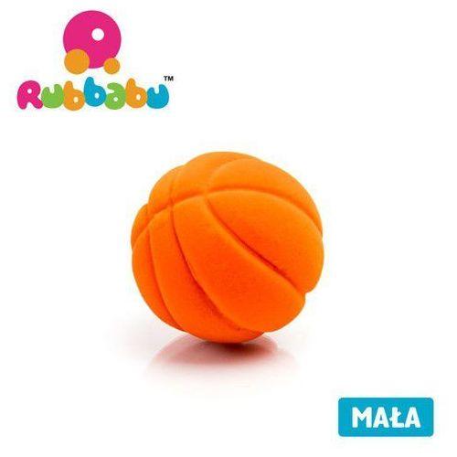 Mała sensoryczna piłka koszykówka - pomarańczowa - Rubbabu (8904002013759)