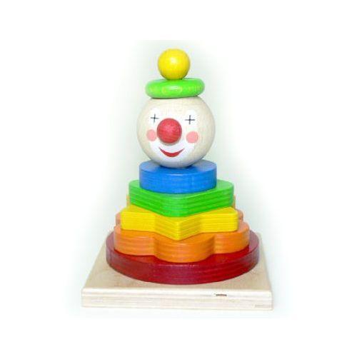 Hess  drewniana nakładanka clown (4016977148559)