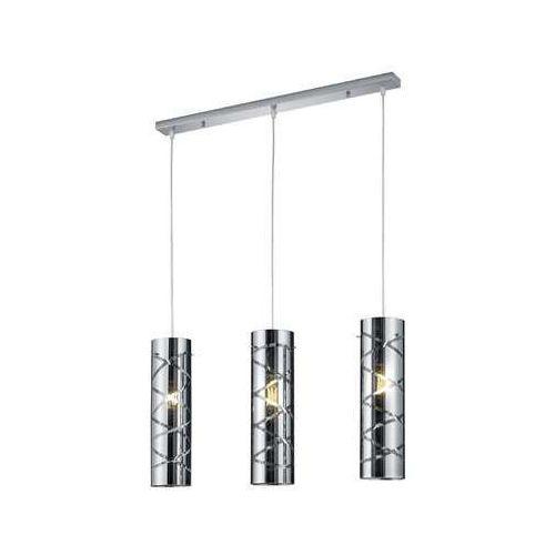 Trio RL Romano R30173054 lampa wisząca zwis 3x40W E27 chrom / dymiony, kolor Dymiony