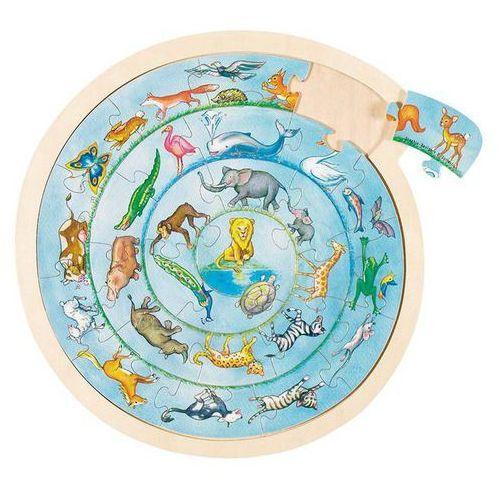 Goki Okrągłe puzzle parada zwierząt