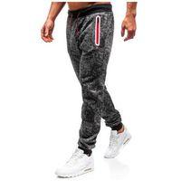 Spodnie męskie dresowe joggery grafitowe denley 55055, J.style