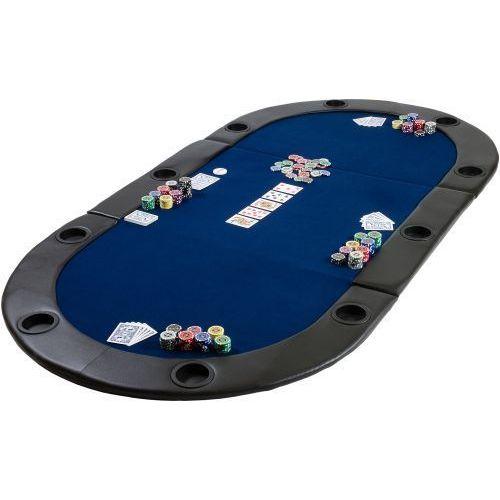 Mata składana do pokera niebieska marki Max