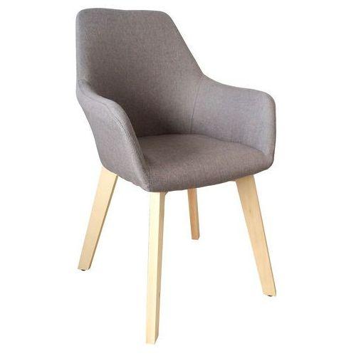 Krzesło tapicerowane z podłokietnikami Stone beige