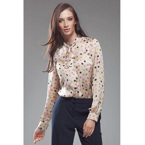 Subtelna bluzeczka z kokardą - kropki - b18, Nife, 36-44