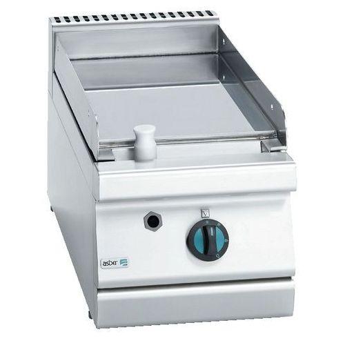 Asber Płyta grillowa gazowa gładka chromowana, propan-butan, 350x775x290 mm | , block cook 700