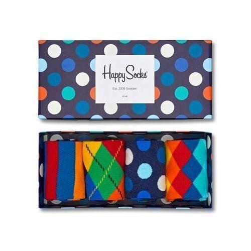 Happy socks Skarpetki giftbox (4-pak) xmix09-6000 - granatowy