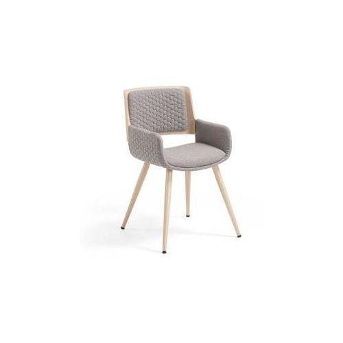 Laforma :: krzesło z podłokietnikami andre jasnoszare