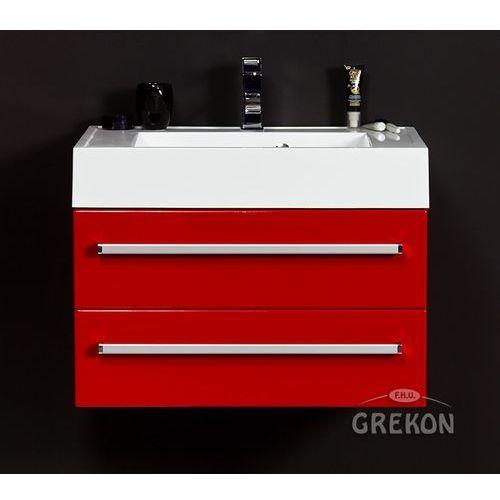 Czerwona szafka wisząca z umywalką 70/50/2 seria fokus cz marki Gante