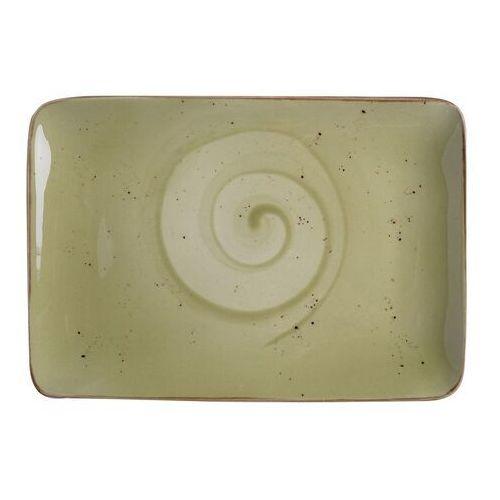Fine dine Talerz porcelanowy prostokątny olive