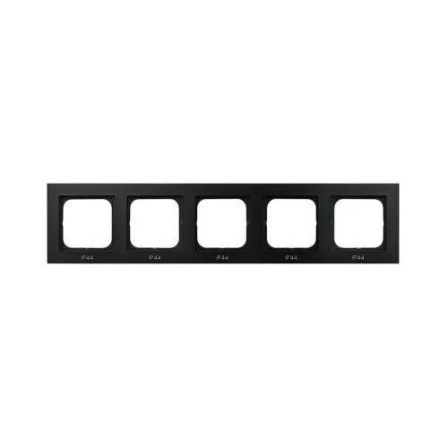 Ospel Ramka pięciokrotna do zestawów ip-44 czarny metalik - rh-5r/33 sonata (5907577446932)