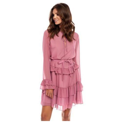 Sukienka Alyssa w kolorze brudnego różu, 1 rozmiar