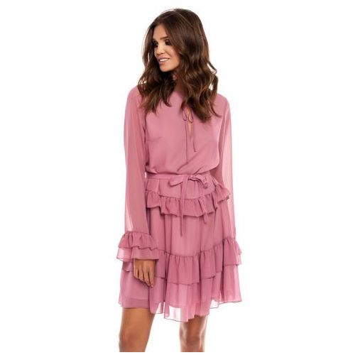 Sukienka Alyssa w kolorze brudnego różu, kolor różowy