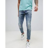 G-Star 3301 Deconstructed Ripped Super Slim Jeans - Blue