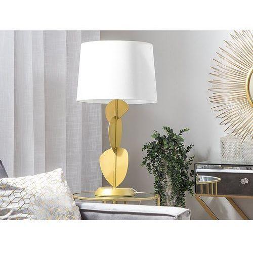 Beliani Lampa stołowa biała/złota 46 cm jollie