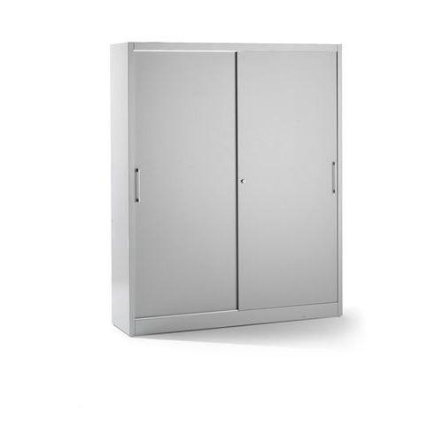 Szafa z drzwiami przesuwnymi, z 8 półkami, ścianka działowa, wys. x szer. x głęb