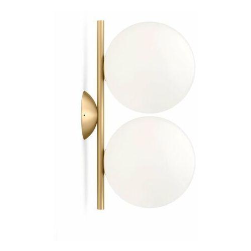 Flos Ic-kinkiet ścienny lub plafon 2-punktowy metal/szkło (8059607000069)