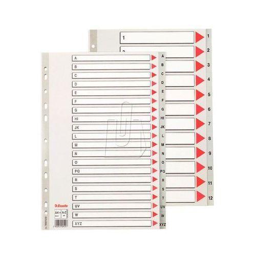 Esselte Przekładki do segregatora A4 Maxi PP szare (10K397C) Darmowy odbiór w 20 miastach! (5902812001297)