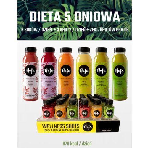 Dieta 5 dniowa VIP - Detoks sokowy, 5dni - 30sok +15shot+ 3shot Free