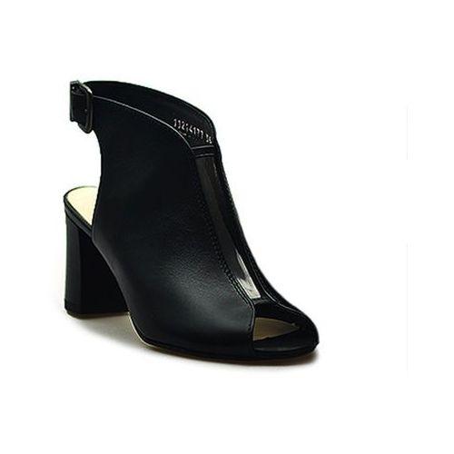 Sandały Eksbut 36-4177-155 Czarne lico, kolor czarny