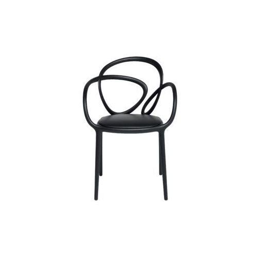 QeeBoo Krzesło Loop z poduszką czarne - 2 szt. 30002BL, 30002BL