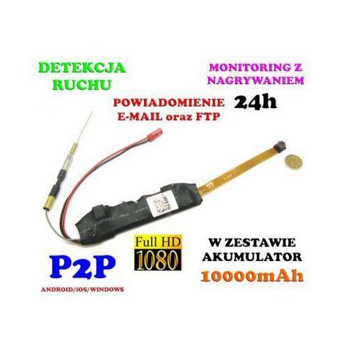 Mini-kamera wifi/p2p (do ukrycia/zabudowy) full hd!! 21-dni pracy (zasięg cały świat!!) + zapis... marki Spy elektronics ltd.
