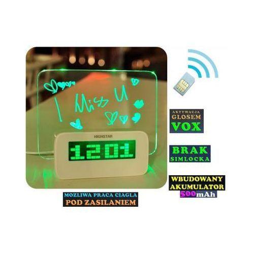Podsłuch Otoczenia (zasięg cały świat!) Ukryty w Zegarku Biurkowym + VOX + Powiadomienie o Wejściu..