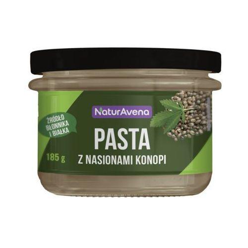 185g pasta z nasionami konopii z ciecierzycy i szpinaku marki Naturavena