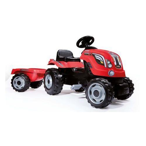 710108 traktor z przyczepą farmer xl czerwony na pedały marki Smoby