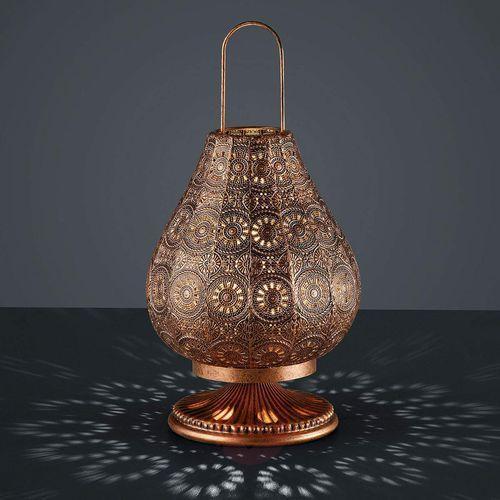 jasmin lampa stołowa miedź, 1-punktowy - vintage - obszar wewnętrzny - jasmin - czas dostawy: od 4-8 dni roboczych marki Trio