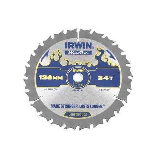 Irwin weldtec Tarcza do pilarki tarczowej 136mm/24t c/10 śr. 136 mm 24 z