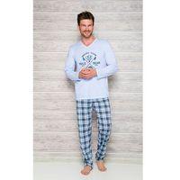 Piżama Taro Arek 2130 dł/r M-2XL N 2XL, niebieski melange-szary, Taro, 1 rozmiar