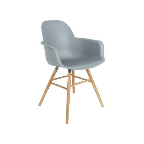 Zuiver :: krzesło z podłokietnikami albert kuip - jasnoszare