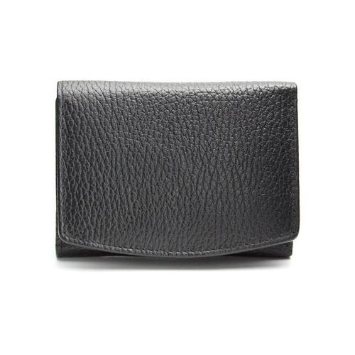 ✅ skórzany damski portfel ochrona rfid kart zbliżeniowych czarny monety - czarny mat marki Koruma®