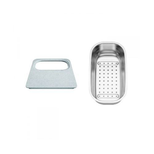Blanco zestaw akcesoriów do zlewu dana (deska z tworzywa 218796 + odsączarka stalowa 208195) (4020684685375)