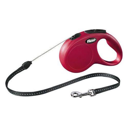 FLEXI Classic Cord, rozm, M 8m do 20kg, czerwona