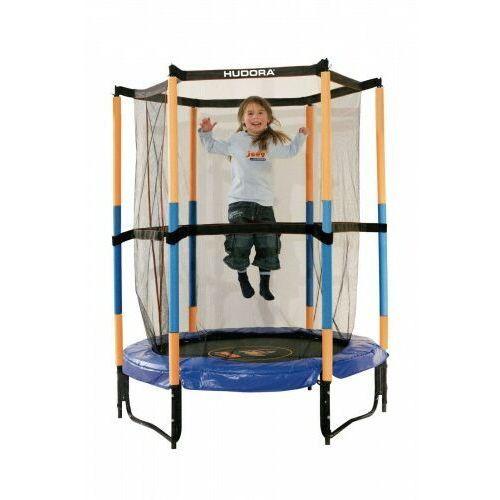 Hudora Trampolina jump in 140 cm dla dzieci hornet do pokoju bezpieczna niebiesko-żółta (4005998148396)