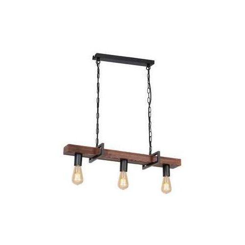 hard 665 lampa wisząca zwis 3x60w e27 ciemne drewno czarny marki Luminex