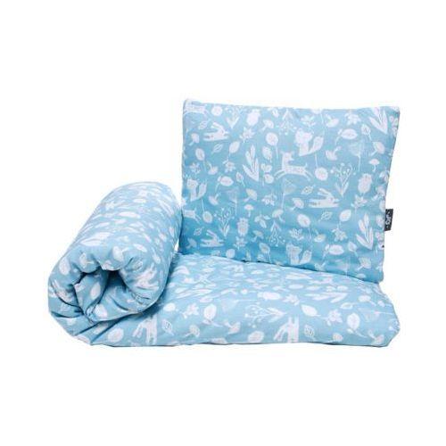Pulp bawełniany komplet pościeli z wypełnieniem zwierzątka niebieskie kołderka 80x100cm + poduszka