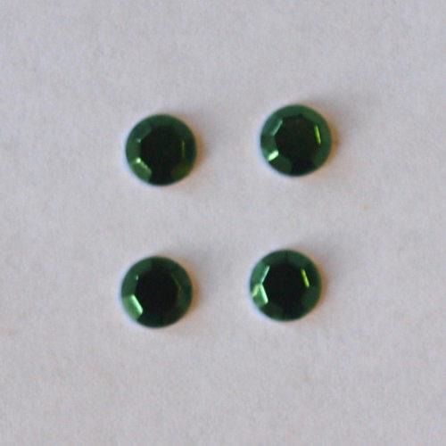 Dżety Hot Fix okrągłe 3 mm/60szt. - zielony - ZIEL
