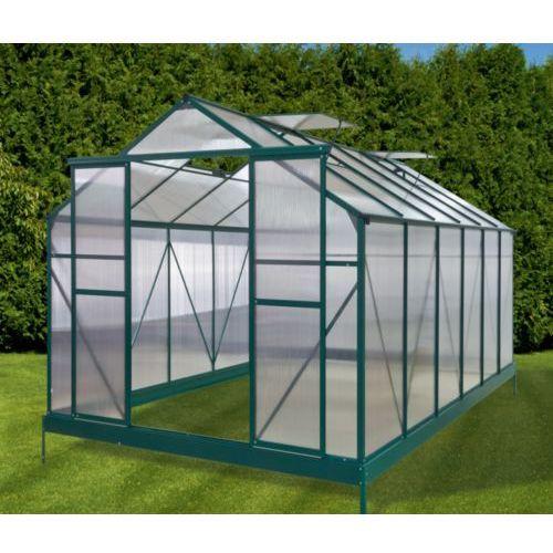 Przydomowa szklarnia aluminiowa - 10,5 m2 - Zielona - Model GARDEN 2