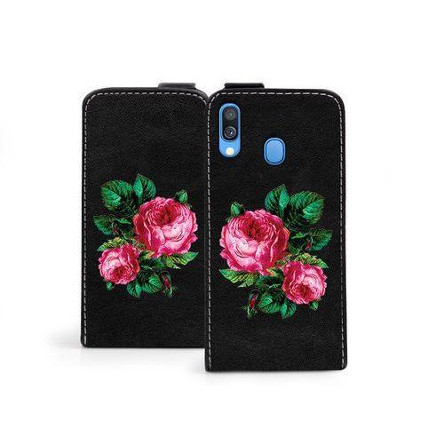 Samsung Galaxy A40 - etui na telefon Flip Fantastic - czerwone róże