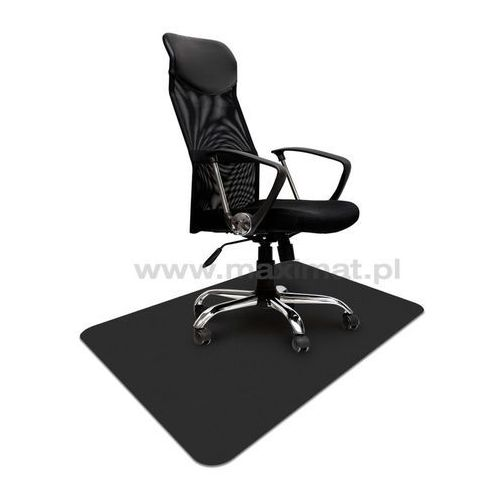 Mata ochronna, podkładka pod fotel na kółkach na podłogę twardą, kolor CZARNY, 90x120cm, gr 1,7mm