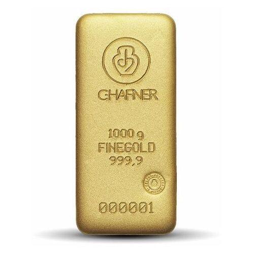 1000 g (1 kg) sztabka złota marki Argor-heraeus, pamp