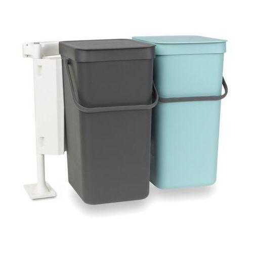 Kosz podwójny do segregacji odpadów szafkowy Sort & Go 2 x 16 l (8710755110023)