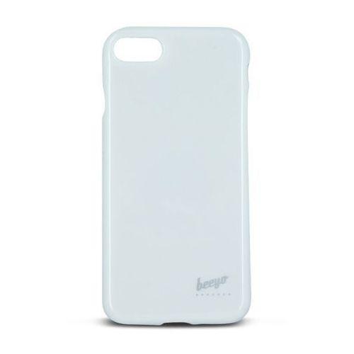 Brokatowa nakładka etui Beeyo Spark do Sony Xperia E5 biała, GSM024386