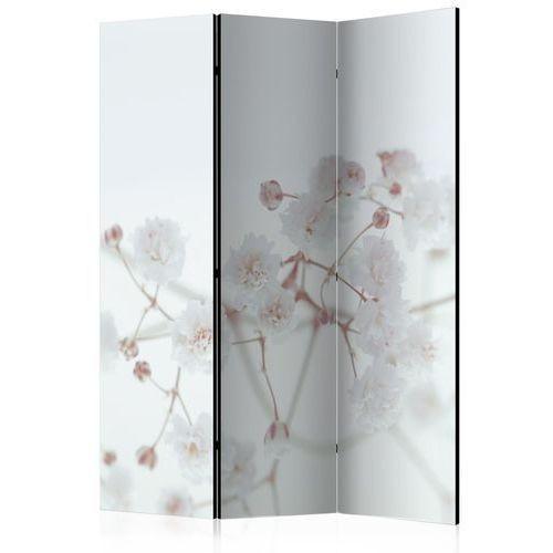 Parawan 3-częściowy - Białe kwiaty [Room Dividers]