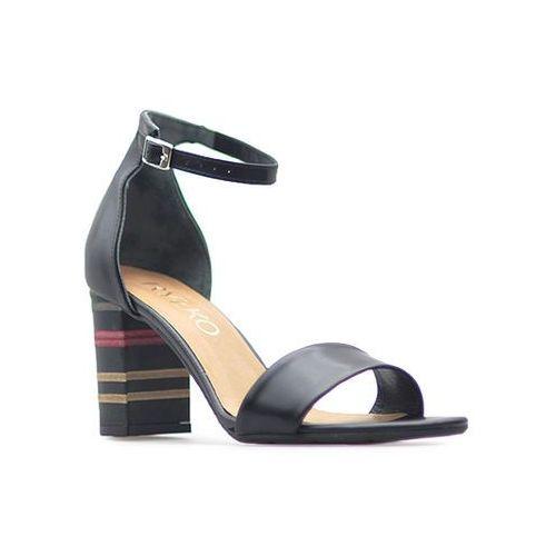 Sandały Ryłko 9HD86_t4_22F Czarne lico, kolor czarny