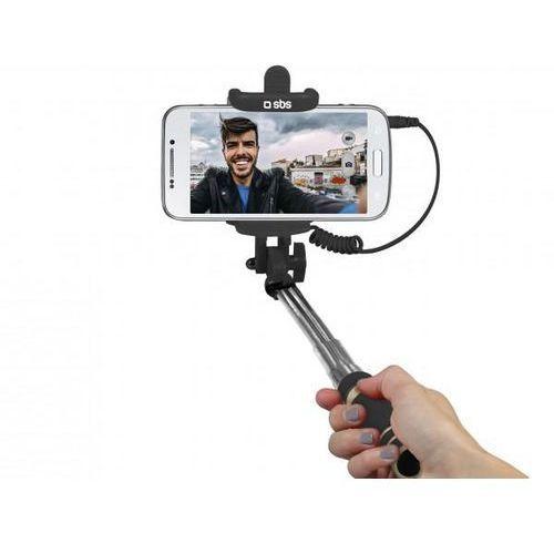 Kijek do selfie SBS Mini Selfie Stick Jack 3,5 mm Czarny TESELFISHAFTMINIFR (8018417215001)